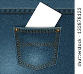 jeans pocket with a credit card ... | Shutterstock . vector #132878123