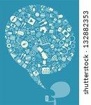 applications in balloon  vector | Shutterstock .eps vector #132882353
