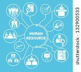 human resource network template ... | Shutterstock .eps vector #132900533