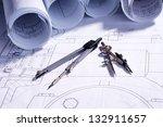 part of engineering project.... | Shutterstock . vector #132911657