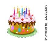 Birthday Cake With Chocolate...