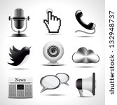 communication icons | Shutterstock .eps vector #132948737