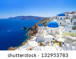 White Architecture Of Oia...