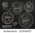 vintage print design elements...   Shutterstock .eps vector #132956927