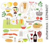 food illustrations collection ... | Shutterstock .eps vector #132968657