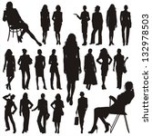 Vector Silhouettes Of Business...
