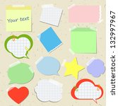 set of stickers and reminders... | Shutterstock .eps vector #132997967