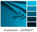 Blue Satin Color Palette With...