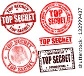 top secret grunge stamp