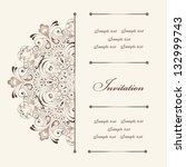 beautiful invitation card with... | Shutterstock .eps vector #132999743