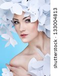 wonderful girl in a hat from... | Shutterstock . vector #133004813