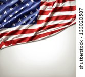 closeup of american flag on... | Shutterstock . vector #133020587