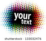 Color dot frame - stock vector