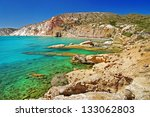 milos island beaches. greece... | Shutterstock . vector #133062803