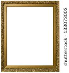 antique golden frame isolated... | Shutterstock . vector #133073003