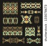 set of russian ornament | Shutterstock .eps vector #133078673