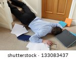 business man falling down the... | Shutterstock . vector #133083437