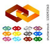 design logo element. infinite... | Shutterstock .eps vector #133092563