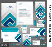 gray corporate identity... | Shutterstock .eps vector #133097813