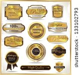 luxury golden labels | Shutterstock .eps vector #133102793