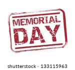 memorial day seal over white... | Shutterstock .eps vector #133115963