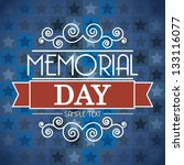 Memorial Day Card Over Blue...