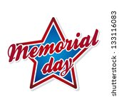 memorial day symbol over white... | Shutterstock .eps vector #133116083