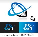 swoosh football logo icon | Shutterstock .eps vector #133123577