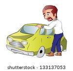 car owner  vector illustration