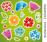vector set of bright colorful...   Shutterstock .eps vector #133160903