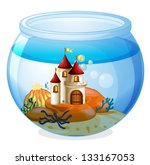 illustration of an aquarium... | Shutterstock .eps vector #133167053