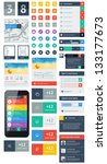 ui is a set of beautiful... | Shutterstock .eps vector #133177673