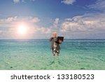 portrait of a  businessman... | Shutterstock . vector #133180523