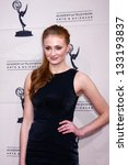 "Small photo of Sophie Turner at ""An Evening with The Game of Thrones"" hosted by the Academy of Television Arts and Sciences, Chinese Theater, Hollywood, CA 03-19-13"