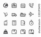 shipping and logistics icons... | Shutterstock .eps vector #133195493