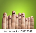 Close Up Of Fingers With Smile...