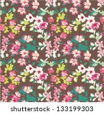 seamless tiny flower pattern... | Shutterstock .eps vector #133199303
