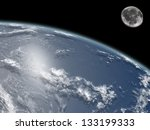Earth And Moon Viewed From...