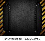 black metal background with... | Shutterstock . vector #133202957