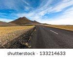Highway Through Dry Gravel Lav...
