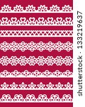 set of different lace patterns. ... | Shutterstock .eps vector #133219637