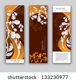 abstract floral banners. vector ... | Shutterstock .eps vector #133230977