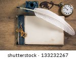 Old Notebook  Quill And Pocket...