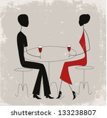 couple in a restaurant | Shutterstock .eps vector #133238807