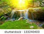 small beautiful waterfall in a... | Shutterstock . vector #133240403