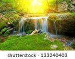 small beautiful waterfall in a... | Shutterstock . vector #133240403