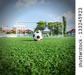 soccer football on penalty spot ... | Shutterstock . vector #133245923