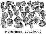 cartoon faces | Shutterstock .eps vector #133259093