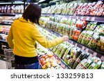 young woman shopping in the... | Shutterstock . vector #133259813