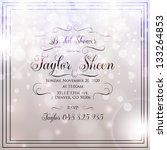 invitation or wedding card with ... | Shutterstock .eps vector #133264853